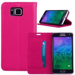 Samsung Galaxy Alpha Pink Wallet Case