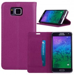 Samsung Galaxy Alpha Purple Wallet Case