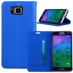 Samsung Galaxy Alpha Blue Wallet Case