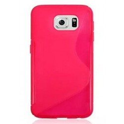 Pink Silicone Protective Case Samsung Galaxy C5 Pro