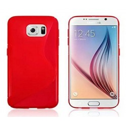 Red Silicone Protective Case Samsung Galaxy C5 Pro
