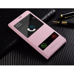 Pink S-view Flip Case For Samsung Galaxy C5 Pro