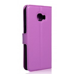 Protection Etui Portefeuille Cuir Violet Samsung Galaxy C5 Pro