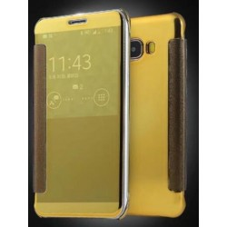 Gold LED View Cover For Samsung Galaxy C5 Pro