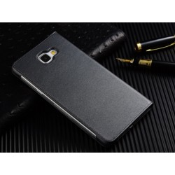 Black S-view Flip Case For Samsung Galaxy C5