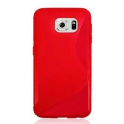 Red Silicone Protective Case Samsung Galaxy C7