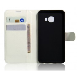 Samsung Galaxy C7 White Wallet Case