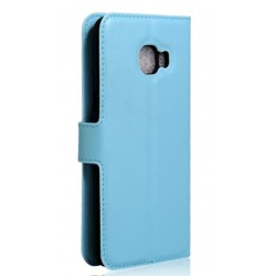 Samsung Galaxy C7 Blue Wallet Case