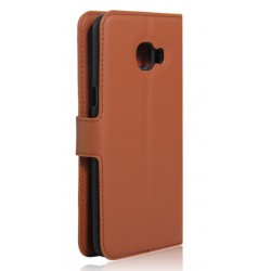 Samsung Galaxy C7 Brown Wallet Case