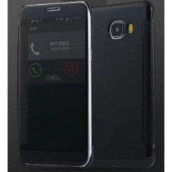 Black LED View Cover For Samsung Galaxy C9 Pro