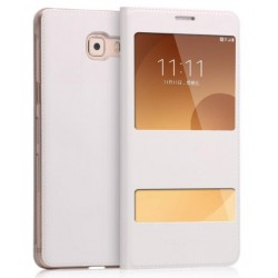 White S-view Flip Case For Samsung Galaxy C9 Pro