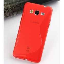 Housse De Protection En Silicone Rouge Pour Samsung Galaxy Grand Prime