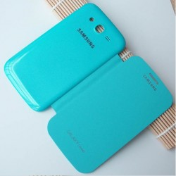 Blue S-view Flip Case For Samsung Galaxy Grand Neo Plus