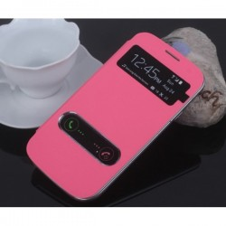 Pink S-view Flip Case For Samsung Galaxy Grand Neo Plus