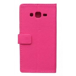 Protection Etui Portefeuille Cuir Rose Samsung Galaxy J5