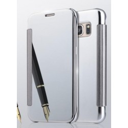 Etui Protection Led View Cover Argent Pour Samsung Galaxy J5 Prime