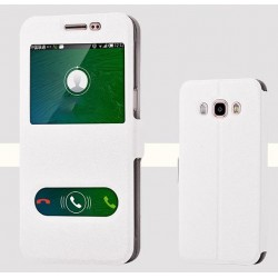 Etui Protection S-View Cover Blanc Pour Samsung Galaxy J7 (2016)