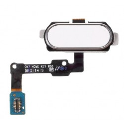 White Home Button Assembly Part For Samsung Galaxy J7 Prime