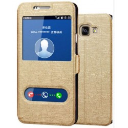 Etui Protection S-View Cover Or Pour Samsung Galaxy J7 Prime