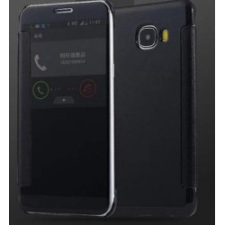 Black Ice View Cover For Samsung Galaxy J7 Prime