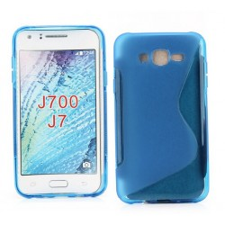 Blue Silicone Protective Case Samsung Galaxy J7