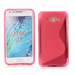 Pink Silicone Protective Case Samsung Galaxy J7