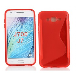 Red Silicone Protective Case Samsung Galaxy J7