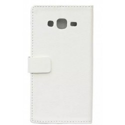 Protection Etui Portefeuille Cuir Blanc Samsung Galaxy J7
