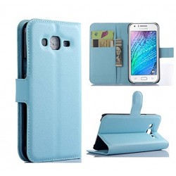 Samsung Galaxy J7 Blue Wallet Case