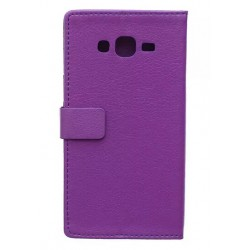 Protection Etui Portefeuille Cuir Violet Samsung Galaxy J7