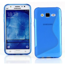 Blue Silicone Protective Case Samsung Galaxy J3 Pro