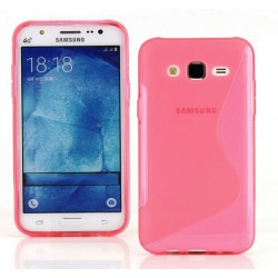 Pink Silicone Protective Case Samsung Galaxy J3 Pro