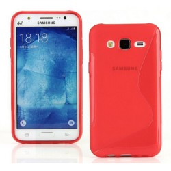 Red Silicone Protective Case Samsung Galaxy J3 Pro