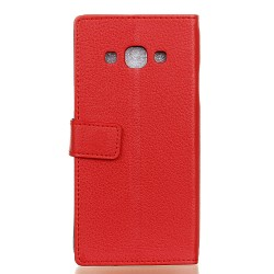 Protection Etui Portefeuille Cuir Rouge Samsung Galaxy J3 Pro