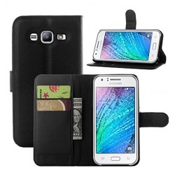 Samsung Galaxy J3 Black Wallet Case