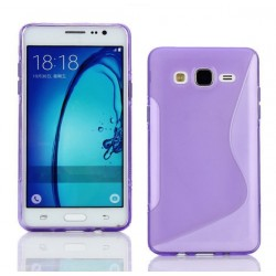 Housse De Protection En Silicone Violet Pour Samsung Galaxy On5