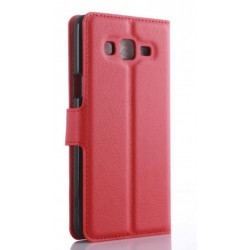 Protection Etui Portefeuille Cuir Rouge Samsung Galaxy On5