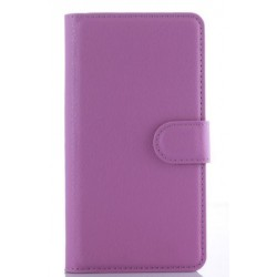 Protection Etui Portefeuille Cuir Violet Samsung Galaxy On5