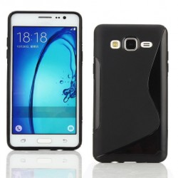 Black Silicone Protective Case Samsung Galaxy On7 Pro