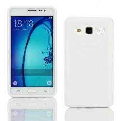 Housse De Protection En Silicone Blanc Pour Samsung Galaxy On7 Pro