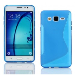 Housse De Protection En Silicone Bleu Pour Samsung Galaxy On7 Pro
