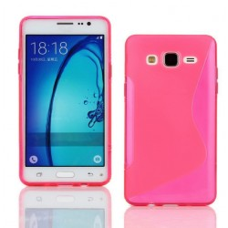 Housse De Protection En Silicone Rose Pour Samsung Galaxy On7 Pro