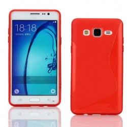 Housse De Protection En Silicone Rouge Pour Samsung Galaxy On7 Pro