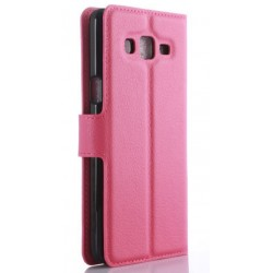 Protection Etui Portefeuille Cuir Rose Samsung Galaxy On7 Pro