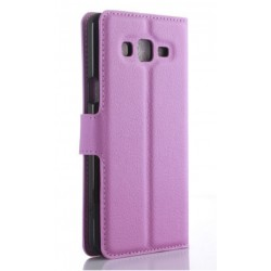 Protection Etui Portefeuille Cuir Violet Samsung Galaxy On7 Pro