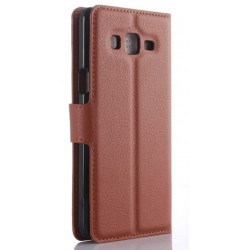 Protection Etui Portefeuille Cuir Marron Samsung Galaxy On7 Pro