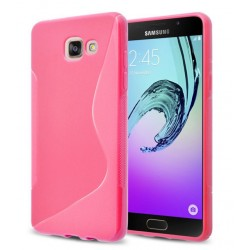 Housse De Protection En Silicone Rose Pour Samsung Galaxy On7 (2016)