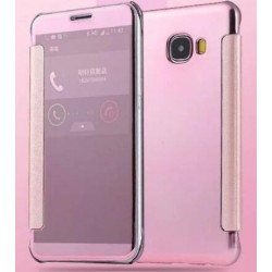 Etui Protection Led View Cover Rose Pour Samsung Galaxy On7 (2016)