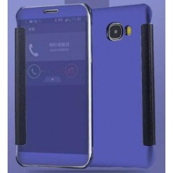 Etui Protection Led View Cover Bleu Pour Samsung Galaxy On7 (2016)