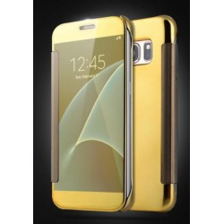 Etui Protection Led View Cover Or Pour Samsung Galaxy On7 (2016)
